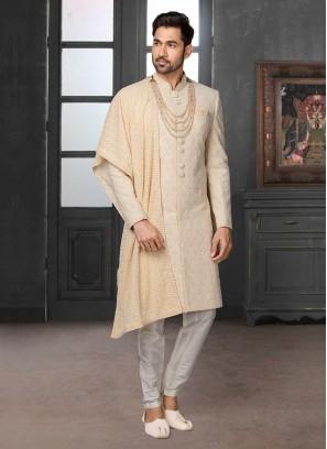 Brocade Silk Wedding Wear Sherwani