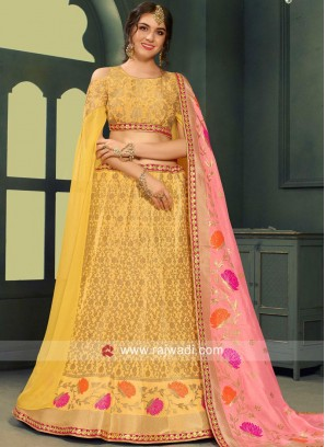 Brocade Weaved Lehenga Choli with Dupatta