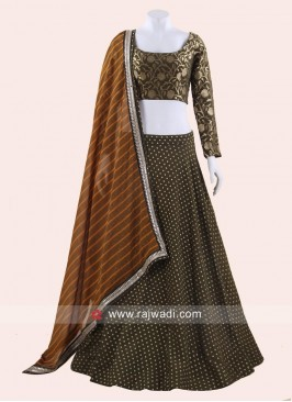 Brocade Weaving Lehenga Set