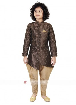 Brown Color Indo Western For Boys