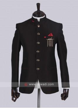 Brown color Jodhpuri Suit