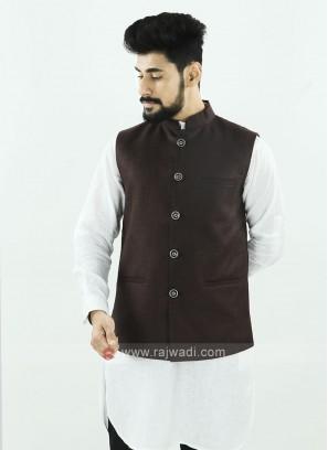 Brown Color Koti For Men