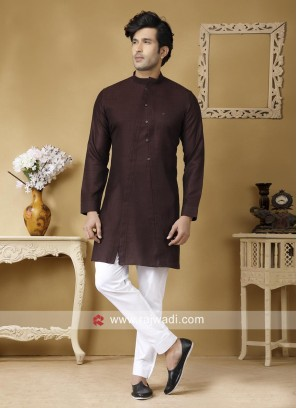 Brown Color Kurta Set
