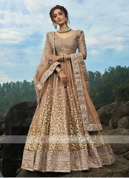 Brown Color Lehenga Choli With Dupatta
