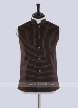 Brown color nehru jacket