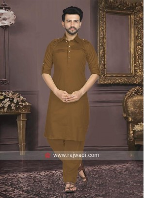 Brown Color Pathani For Mens