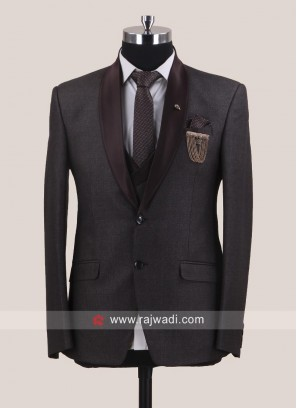 Brown Color Suit For Mens