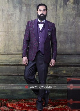 Purple Color Imported Fabric Suit