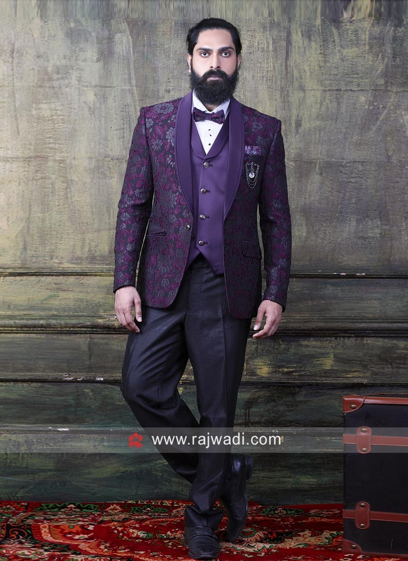 Purple Color Imported Fabric Suit
