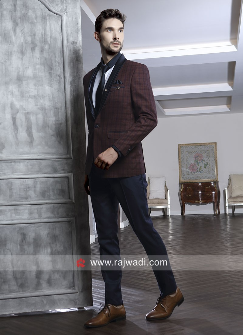 Maroon Color Imported Suit