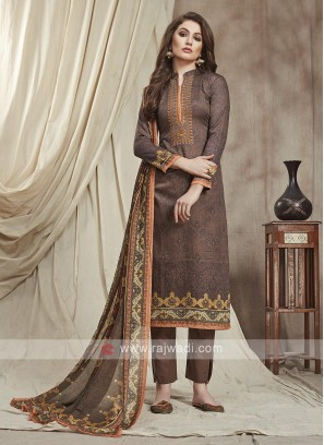 Brown Color Trouser Suit