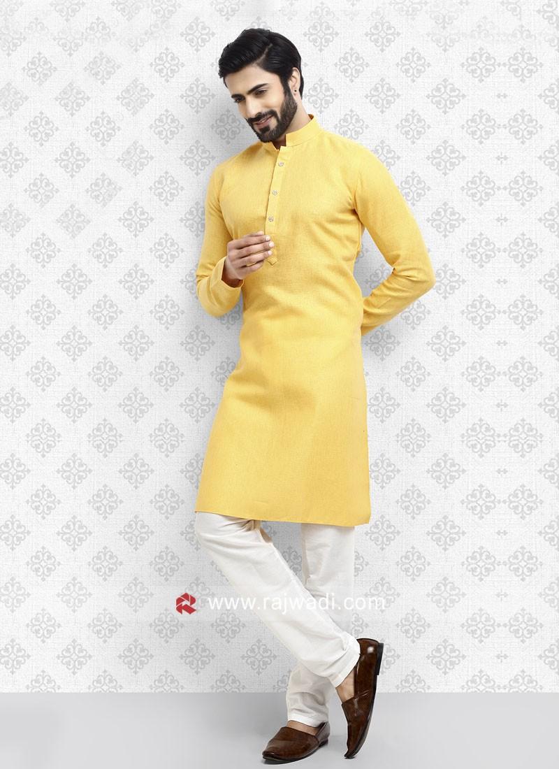Yellow Color Kurta Pajama