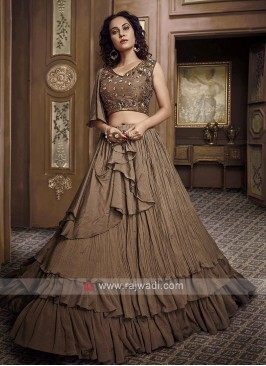 Brown Designer Lehenga Choli