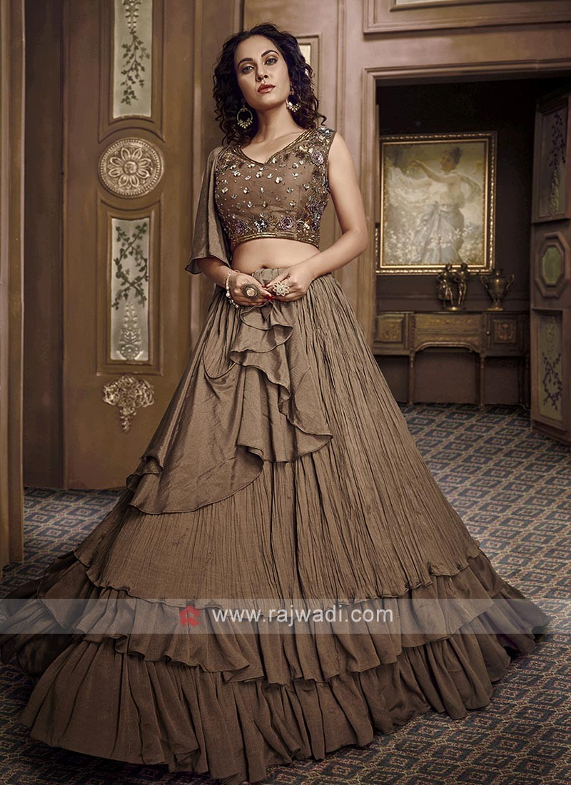 Brown Designer Lehenga Choli