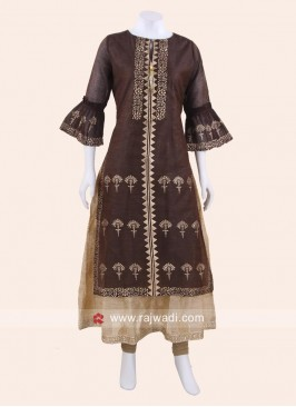 Brown Double Layered Kurti