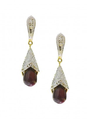 Brown Drop Earrings