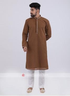 Brown Kurta Pajama