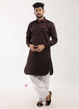 Brown Pathani Suit