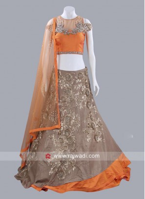 Butter Silk Layered Lehenga Choli