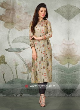 Butter Silk Party Wear Kurti