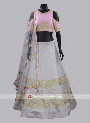 Butter Silk Readymade Lehenga Suit