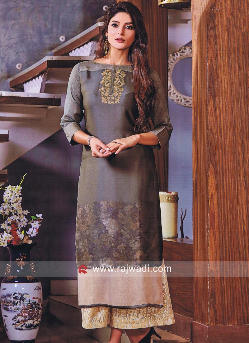 Butter Silk Short Long Kurti