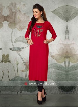 Butter Silk Straight Fit Kurti