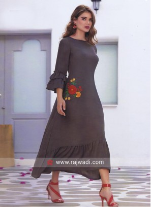 Butter Silk Thread Work Kurti