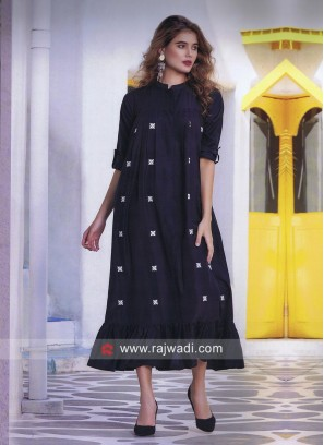 Butter Silk Tunic with Pleated Border