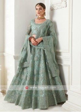 cadet blue color lehenga choli