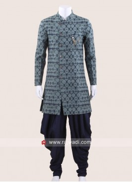 Cadet Blue Color Patiala Suit