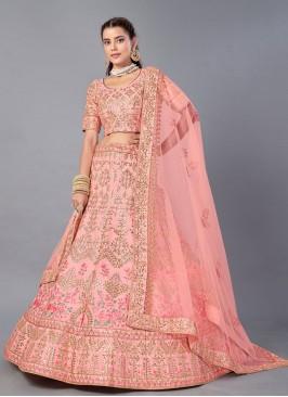 Capricious Embroidered Art Silk Trendy Lehenga Choli