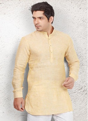 Captivating Light Yellow Kurta