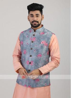 Carolina Blue Nehru Jacket