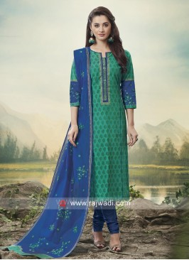 Casual Embroidered Churidar Suit
