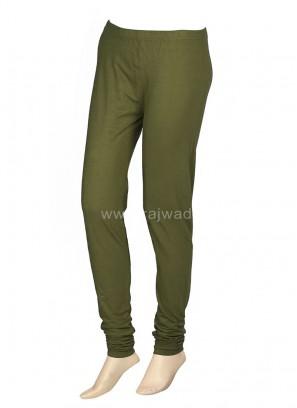 Casual Mahendi Green Leggings For Women