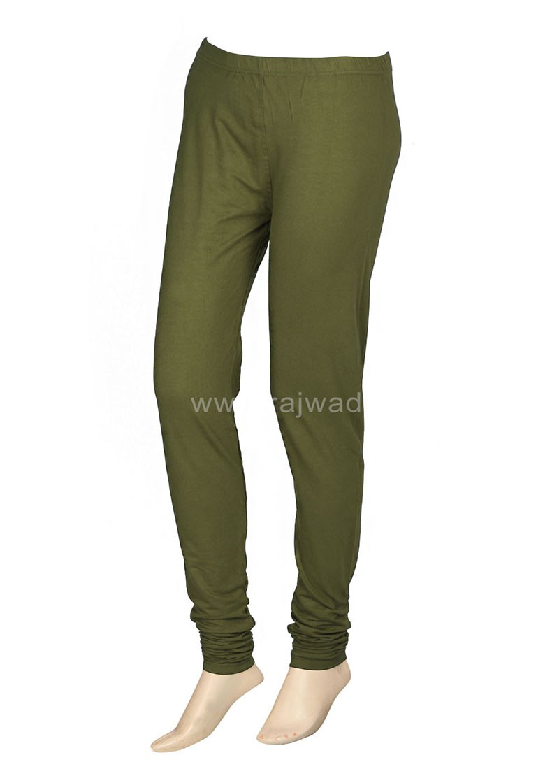 Casual Olive Leggings For Women
