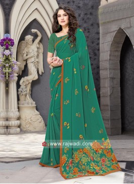 Casual Printed Saree with Piping Border