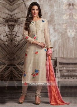 Dressline Casual Straight Fit Cotton Silk Suit