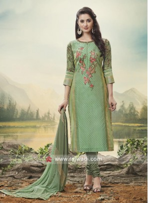 Casual Summer Wear Cotton Silk Suit