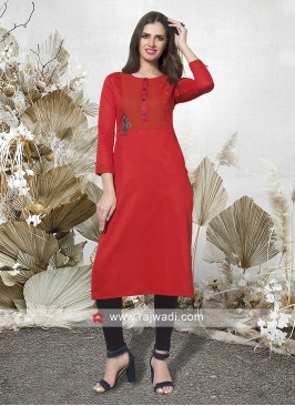 Casual Tomato Color Kurti
