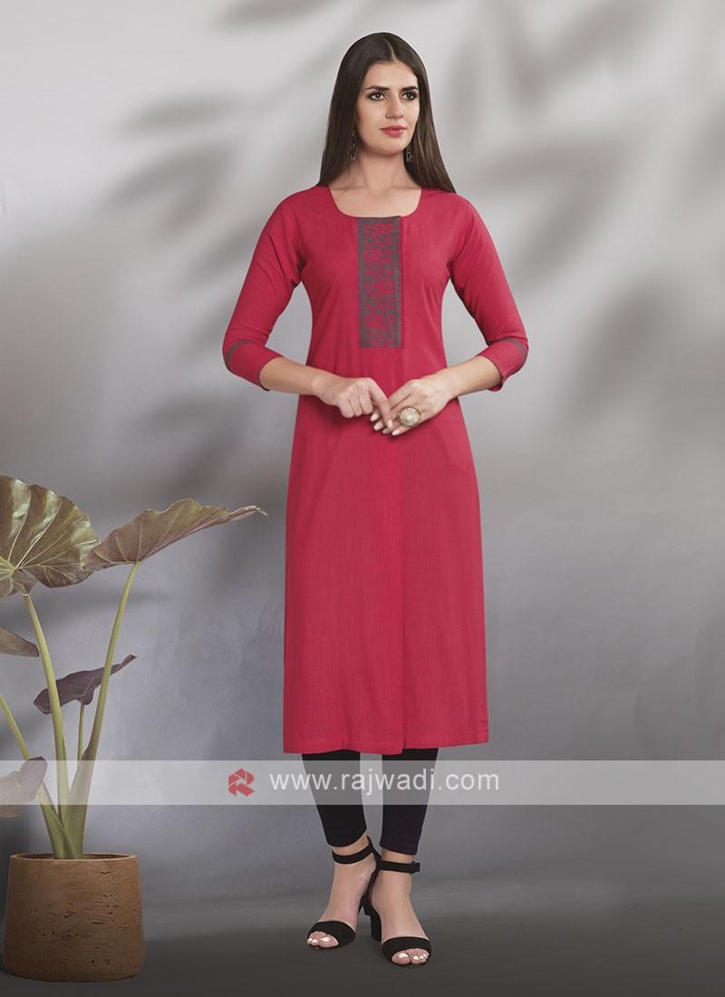 Casual Wear Cotton Rayon Kurti