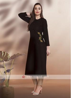 Casual Wear Kurti in Black