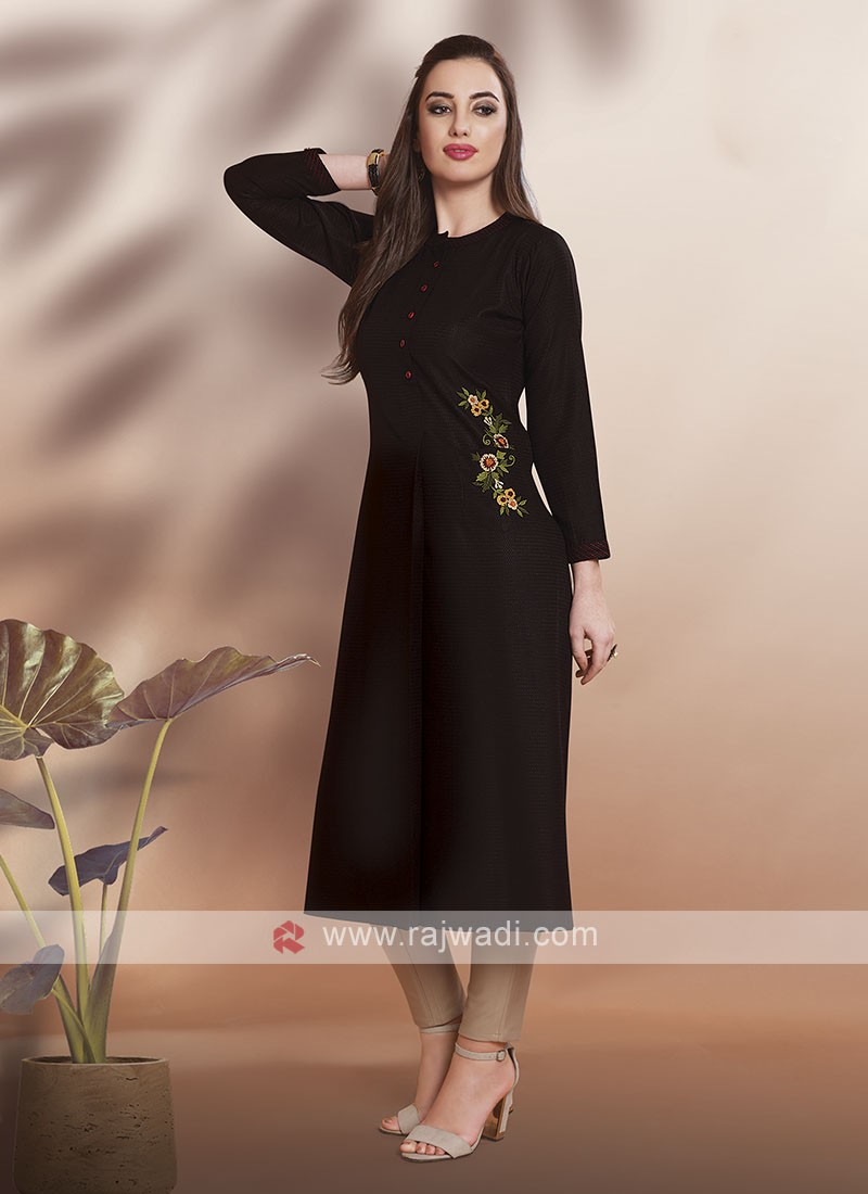 Casual Wear Kurti in Black