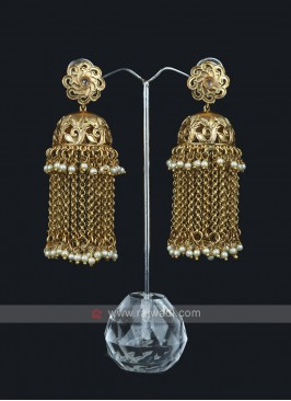 Chain Beaded Jumka Style Earring