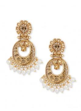 Antique Work Chandbali Earrings