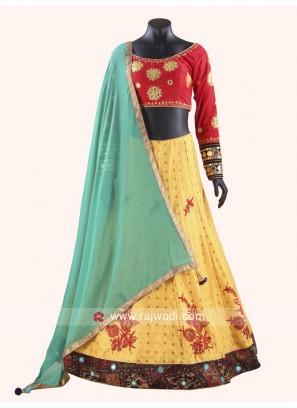 Charming Art Raw Silk Chaniya Choli