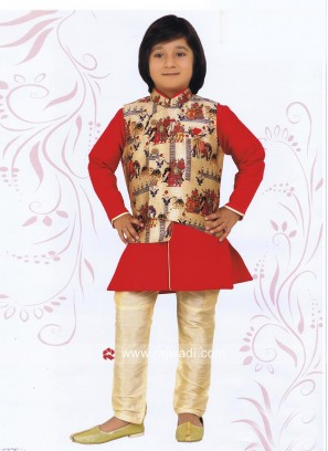 Charming Art Silk Boys Nehru Jacket