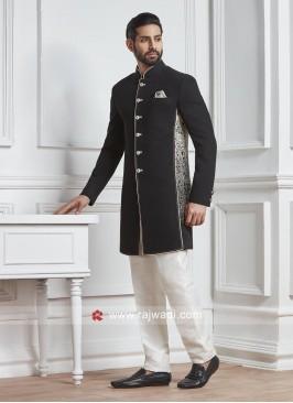 Charming Black Color Indo Western