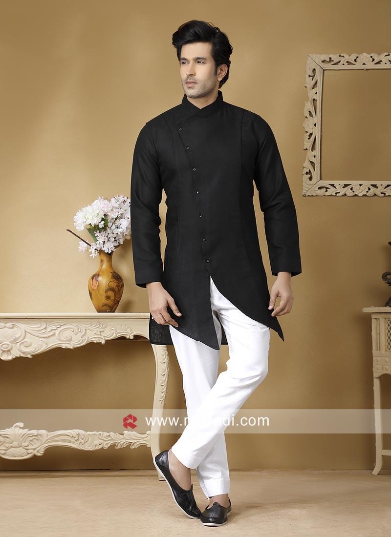 Charming Black Color Kurta Set